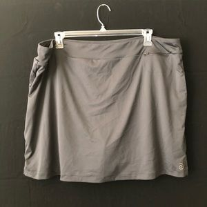 Charcoal Grey Skort Stretchy Skirt with Shorts